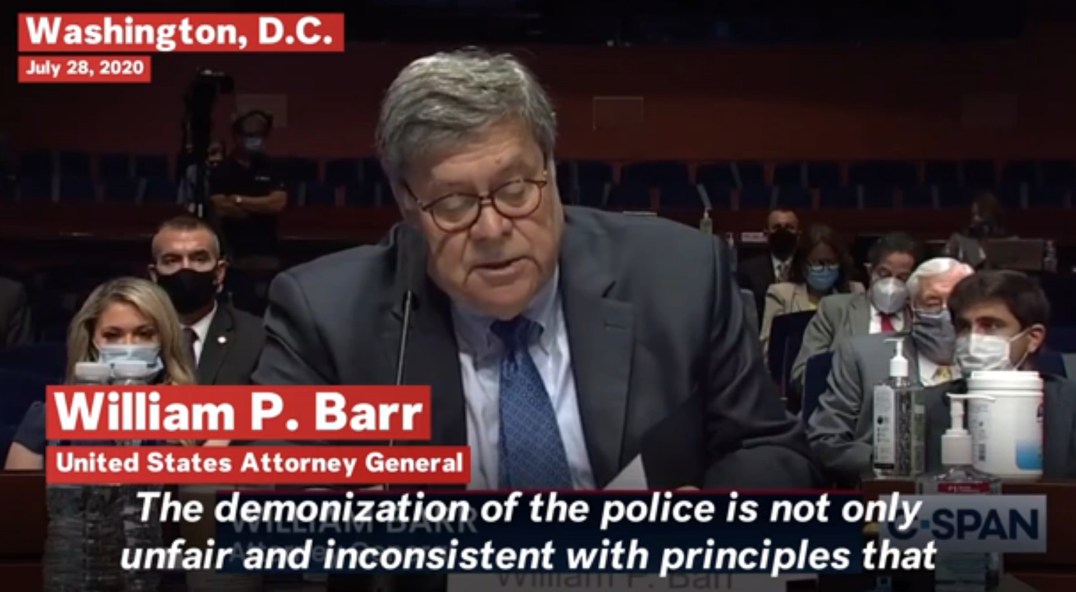 Wm Barr on Law Enforcement